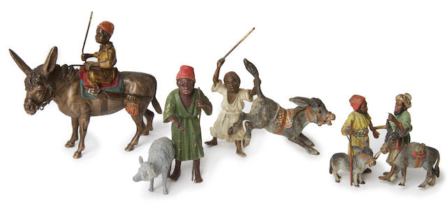 Vienna Bronzes (Austrian, late 19th/early 20th Century) Children with their pets