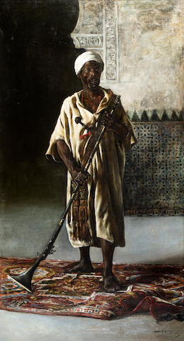 (n/a) Federico Godoy y Castro (Spanish, 1869-1939) The Moorish guard of Qadis