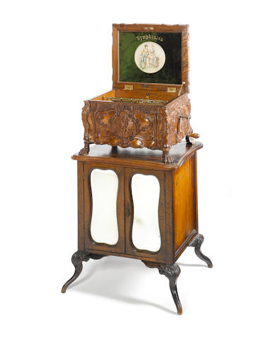 A Symphonion 12-inch disc musical box, The 'Rococo' style 25C, circa 1895,