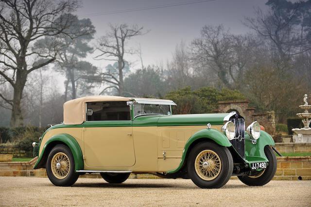 1933 Delage D8 Foursome Drophead Coupé  Chassis no. 36240 Engine no. 1823