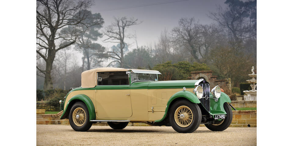 1933 Delage D8 Foursome Drophead Coupé  Chassis no. 36240 Engine no. 1823