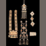 A collection of Central Asian Jewellery Turkestan, (5)