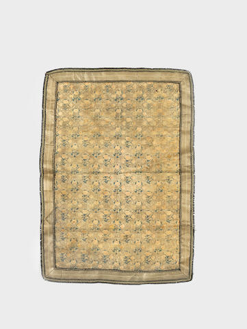 A Safavid woven silk and gilt-metal-thread Panel Persia, 18th Century