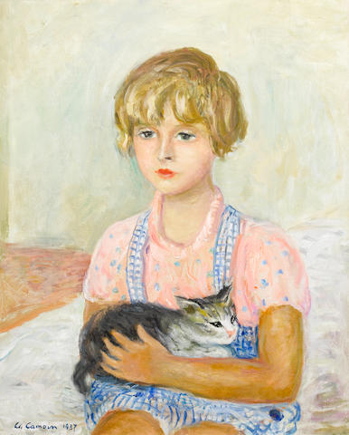 Charles Camoin (French, 1879-1965) La fille avec le chat