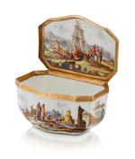 A Meissen gold-mounted snuff box circa 1740-45
