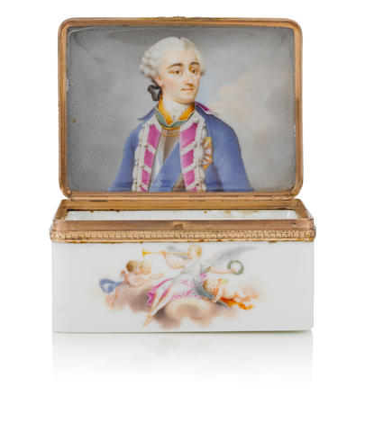 A Meissen box with a portrait of Stanislaw Augustus II circa 1765