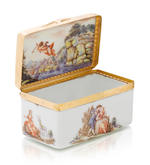 A Doccia box with gallant scenes circa 1760