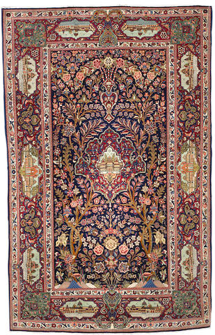 A Kashan rug, Central Persia, circa 1930, 211cm x 135cm (6ft 11in x 4ft 5in) excellent condition