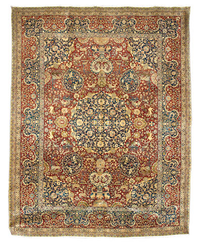 A Tabriz carpet, North West Persia, circa 1900, 346cm x 263cm excellent condition throughout