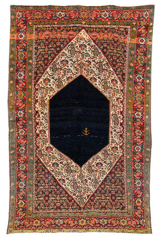A Senneh rug, West Persia, circa 1890, 203cm x 131cm (6ft 8in x 4ft 4in) good condition throughout