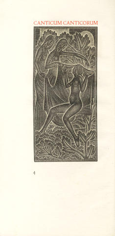 CRANACH PRESS Canticum canticorum Salomonis quod hebraice dicitur Sir Hasirim, NUMBER 22 OF 200 COPIES