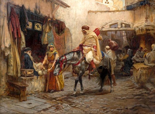 (n/a) Frederick Arthur Bridgman (American, 1847-1928) A Street in Algeria