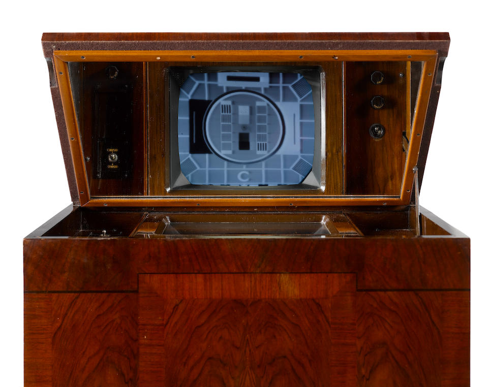 An important Marconi type 702 mirror-lid television, sold on 26th November 1936 - two owners from new,