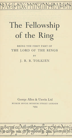 TOLKIEN (JOHN RONALD REUEL) The Fellowship of the Ring