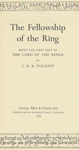 TOLKIEN (JOHN RONALD REUEL) The Fellowship of the Ring
