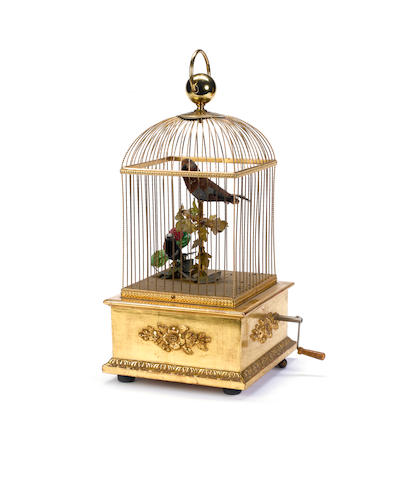 A double singing birds-in-cage, by Reuge, circa 1960,