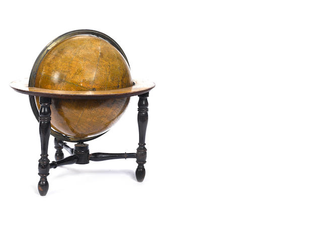 A Newton's 12-inch celestial table globe,  English,  published 1851,