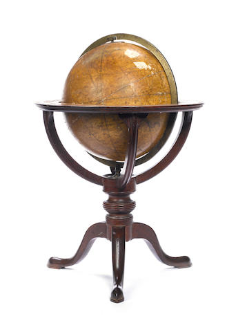 A J & W Carey 9-inch celestial table globe,  English,  published 1803,