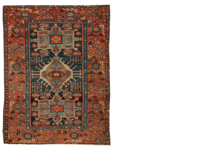 A Karaja rug, North West Persia, circa 1910, 6 ft 5 in x 4 ft 9 in (195 x 145 cm) some losses at each end