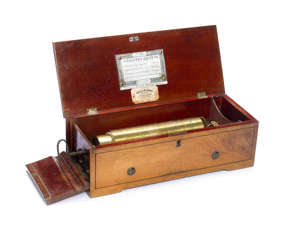A key-wind musical box, by Nicole Frères, circa 1857,