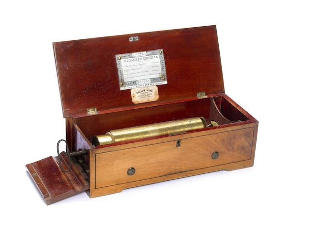 A late 19th centruy musical box playing 4 aires