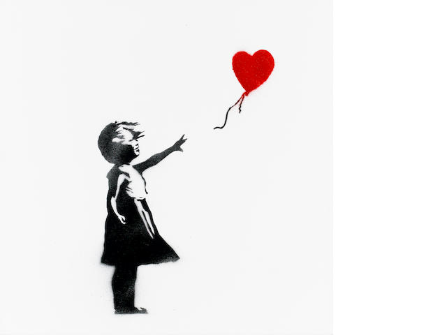Banksy (British, born 1975) 'Girl With Balloon', 2003