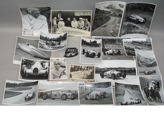 A collection of Auto Union ephemera, German, late 1930s,
