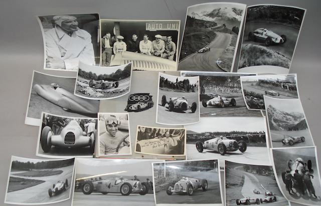 A collection of Auto Union ephemera, German, late 1930s,