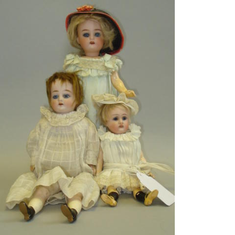 Small Kestner 192 bisque head doll 3