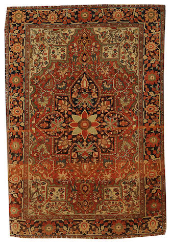 A Sarouk Feraghan rug, West Persia, circa 1890, 5 ft 1 in x 3 ft 5 in (155 x 103 cm) losses at each end