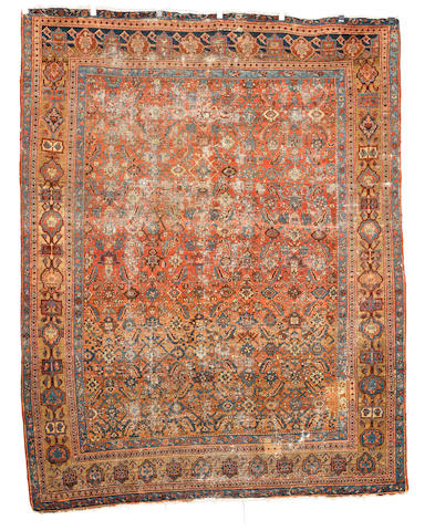 A Bakshaish carpet, West Persia, circa 1880, 9 ft 4 in x 7 ft 5 in (285 x 227 cm) areas of wear, minor losses to each end, some areas of reweave