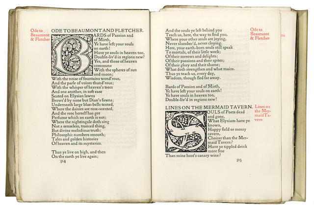 KELMSCOTT PRESS [KEATS (JOHN) The Poems]