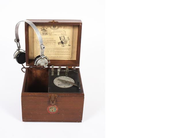 A Cosmos 'Radiophone' crystal set, circa 1923,