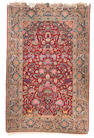 A pair of part silk Kashan prayer rugs, Central Persia, circa 1930, 6 ft 8 in x 4 ft 5 in (203 x 133 cm) minor wear