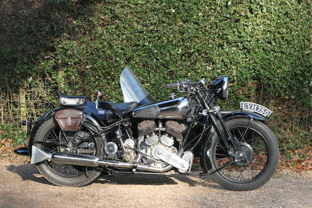 1938 Brough Superior 990cc SS80 Outfit
