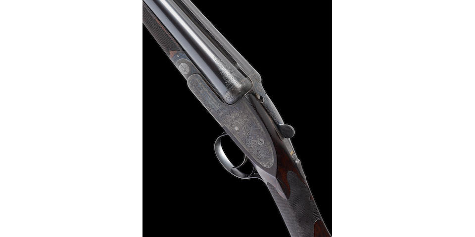 A fine 12-bore 'Premiere Finest Quality' single-trigger assisted-opening sidelock ejector gun by E.J. Churchill, no. 6636 In a leather case