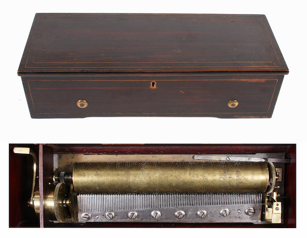 An early 20th century musical box,