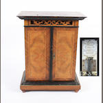 Victorian inlaid walnut polyphon by the Britannia St Croix Switzerland and a collection of discs