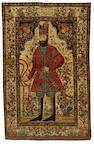 An Isfahan rug, Central Persia, circa 1900, 6 ft 11 in x 4 ft 5 in (211 x 136 cm) some wear in main field, both selveges rebound, later fringes