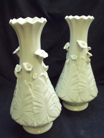 "A pair of Belleek ""Third Period"" vases"