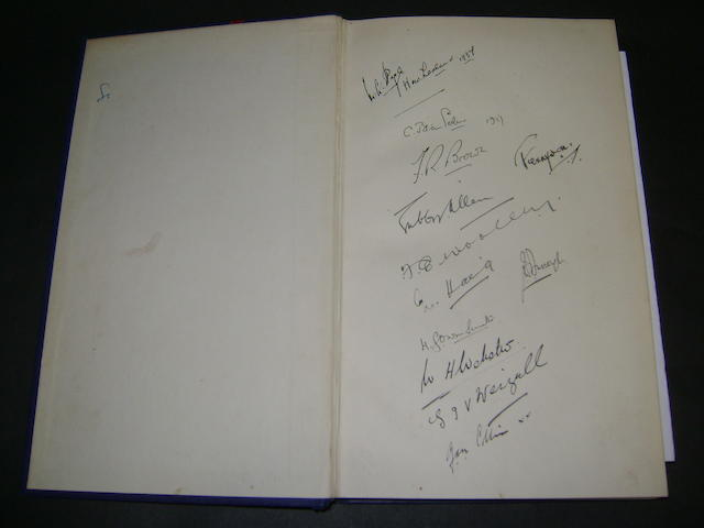 1787-1937 M.C.C. 150 years hand signed book