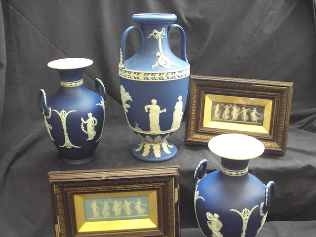 A collection of Wedgwood Jasperwares