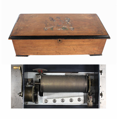 A two-per-turn musical box playing twenty airs, by B H Abrahams, circa 1902,