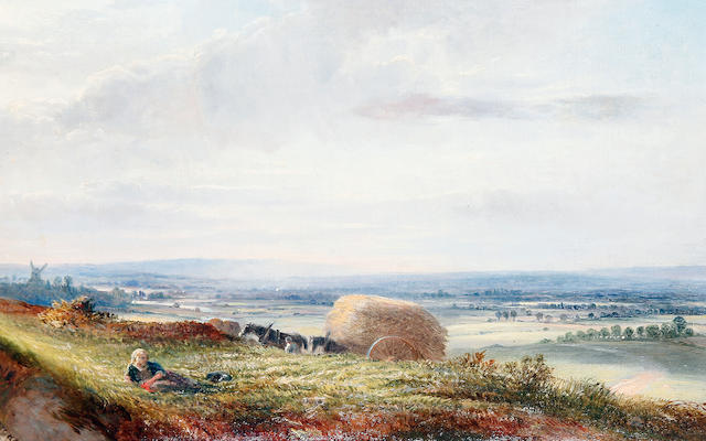 George Vicat Cole, RA (British, 1833-1893) Haymaking