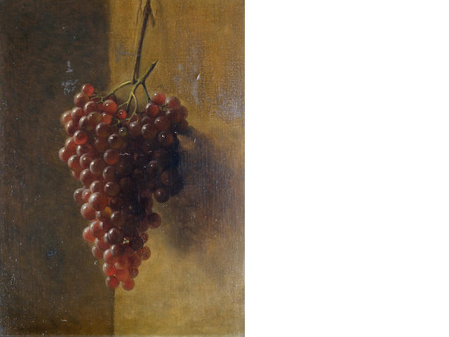George Henry Hall (American, 1825-1913) Still life of grapes