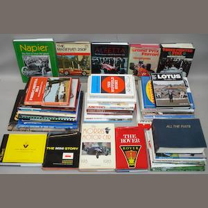 Books and literature relating to various marques and models,