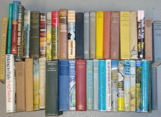 A quantity of motoring expedition books,