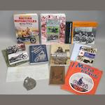 Assorted motorcycling literature,