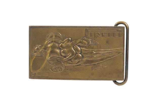 A rare Pirelli belt buckle designed by Salvador Dali (1904-1989), British, circa 1970,