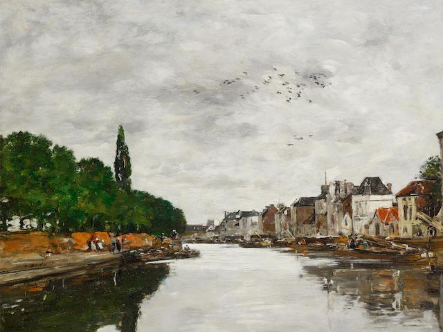 Eugène Louis Boudin- Canal aux Environs de Bruxelles